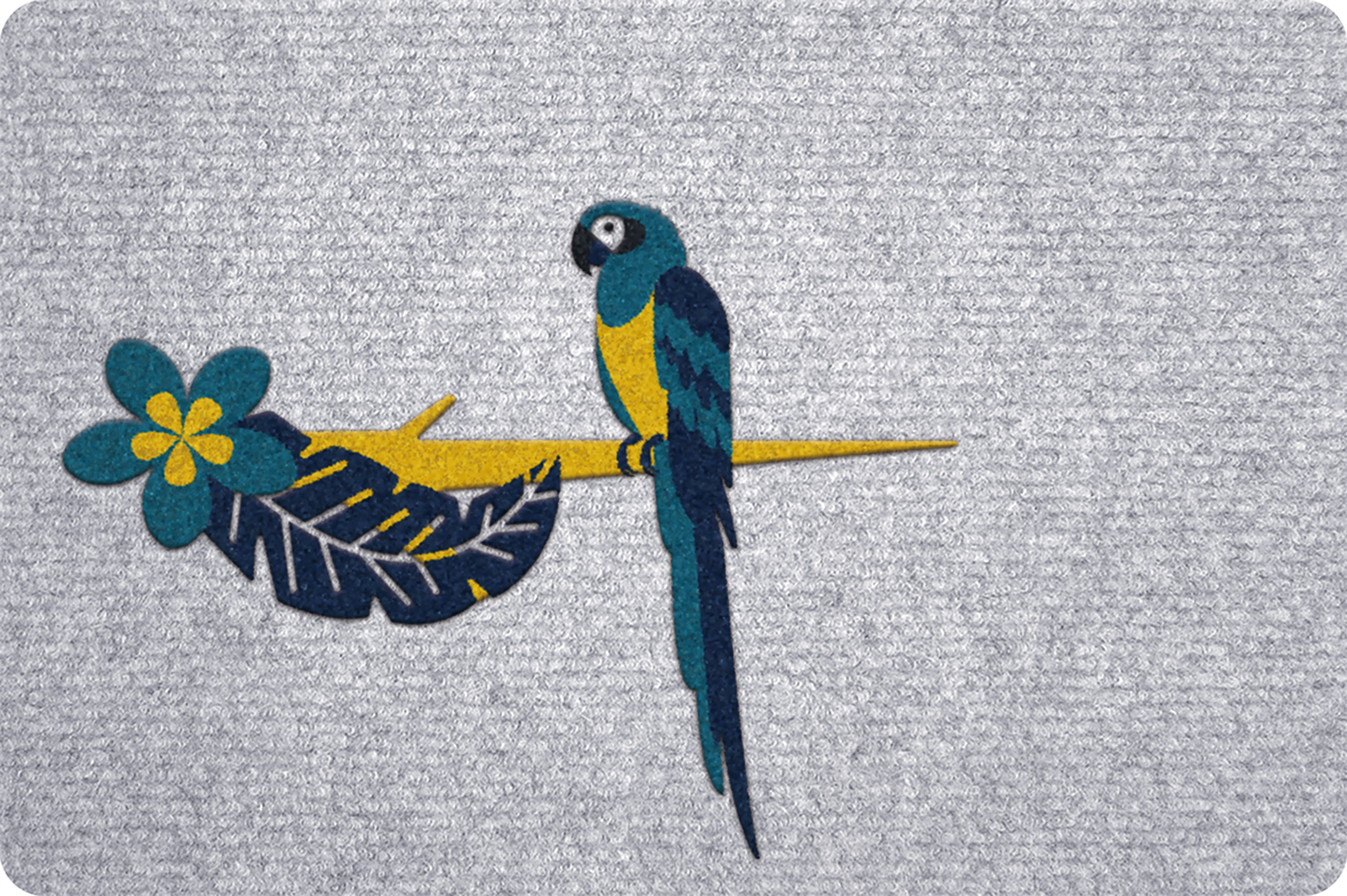 Flocking mat