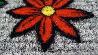 techniques impression sur tapis : flocage